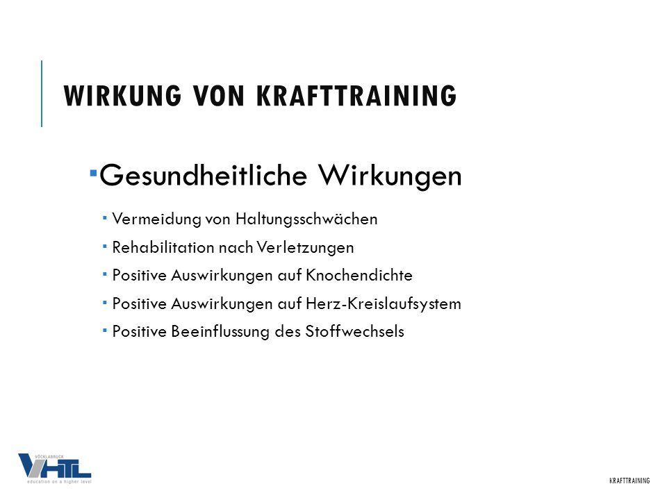 Ziel: Schnelle Kontraktionsfähigkeit KRAFTTRAINING TRAININGSMETHODEN DER SCHNELLKRAFT