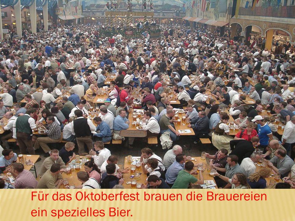 Für das Oktoberfest brauen die Brauereien ein spezielles Bier.