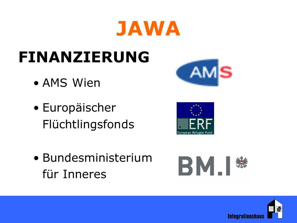 JAWA FINANZIERUNG AMS Wien Europäischer Flüchtlingsfonds Bundesministerium für Inneres