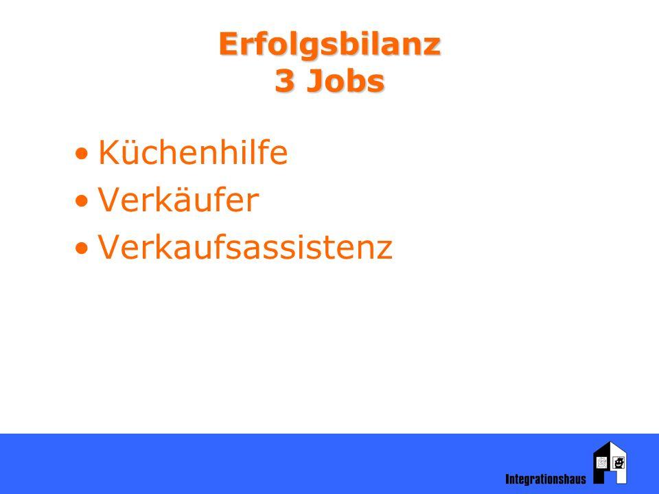 Erfolgsbilanz 3 Jobs Küchenhilfe Verkäufer Verkaufsassistenz