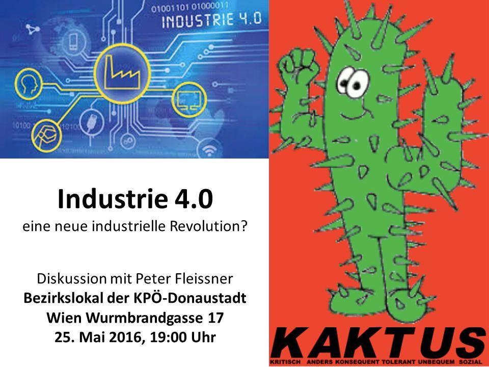 Industrie 4.0 eine neue industrielle Revolution.