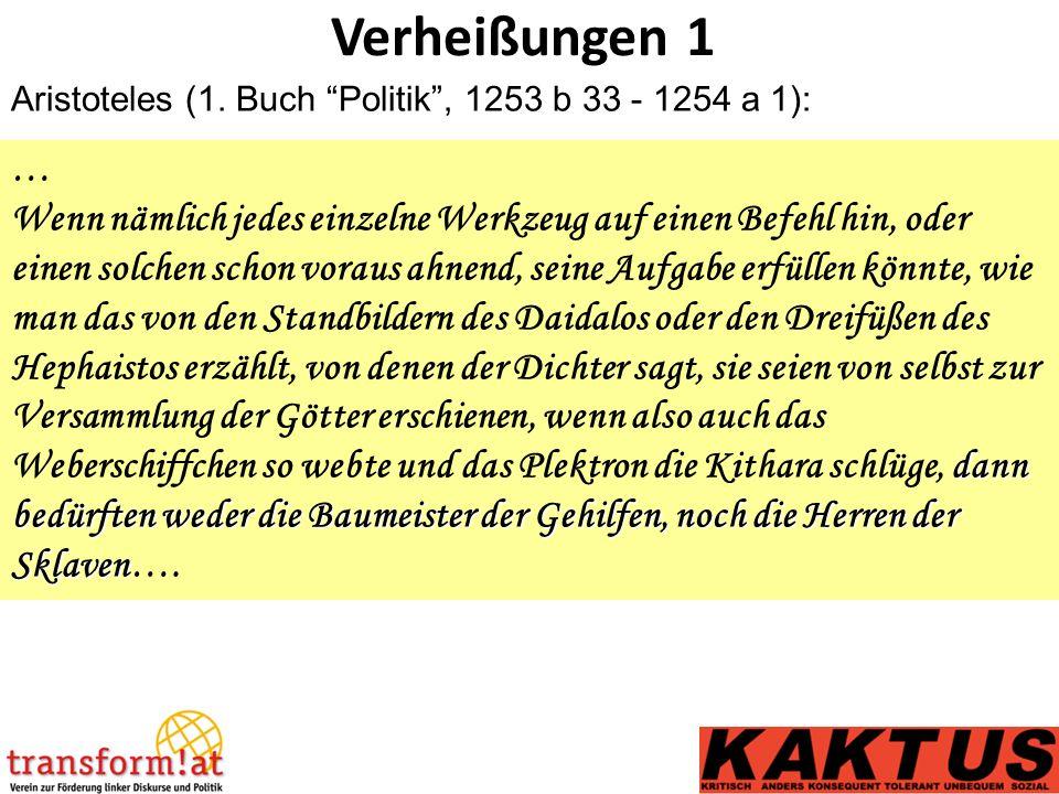 Verheißungen 1 Aristoteles (1.