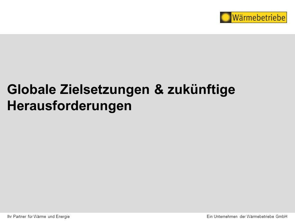 Globale Zielsetzungen & zukünftige Herausforderungen Ein Unternehmen der Wärmebetriebe GmbH Ihr Partner für Wärme und Energie