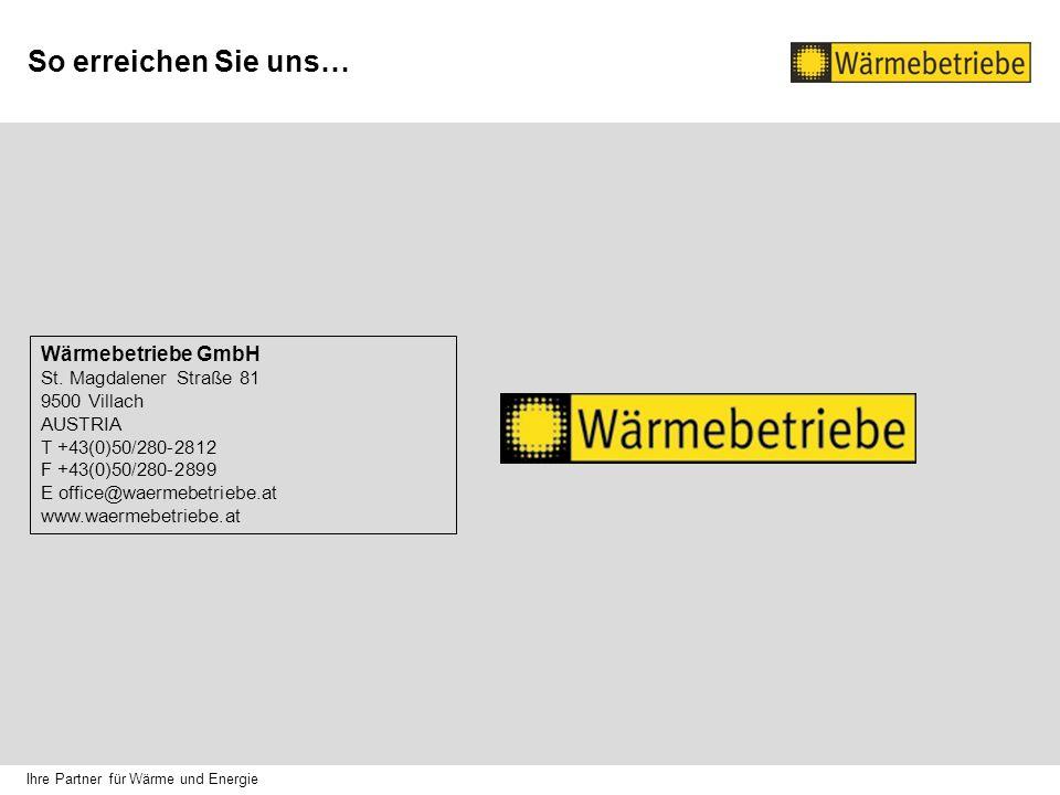 So erreichen Sie uns… Wärmebetriebe GmbH St.