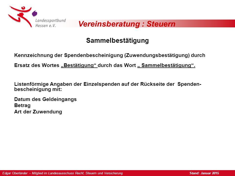 Vereinsberatung : Steuern Zuwendungshaftung Bei Zuwiderhandlungen gegen das Spendenrecht z.B.
