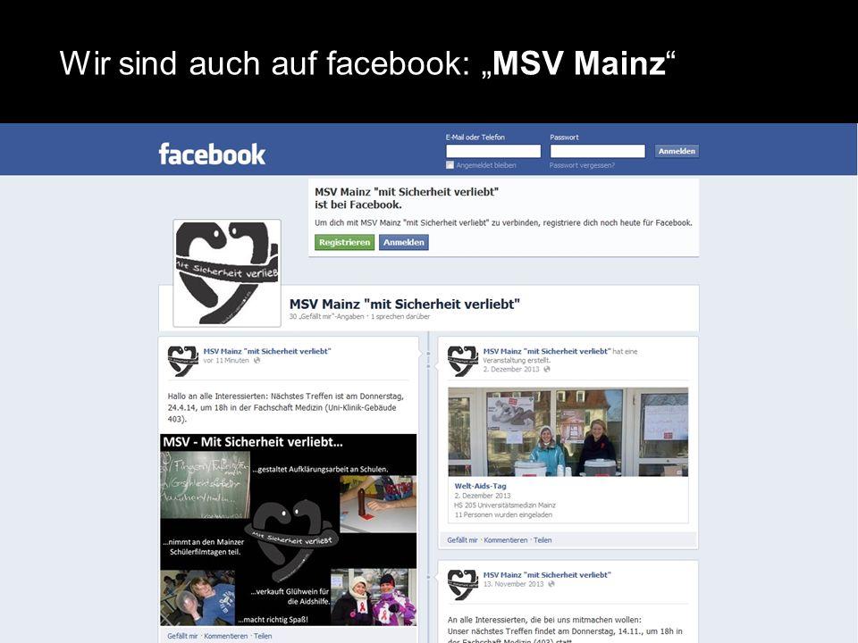 """11 Wir sind auch auf facebook: """"MSV Mainz"""""""