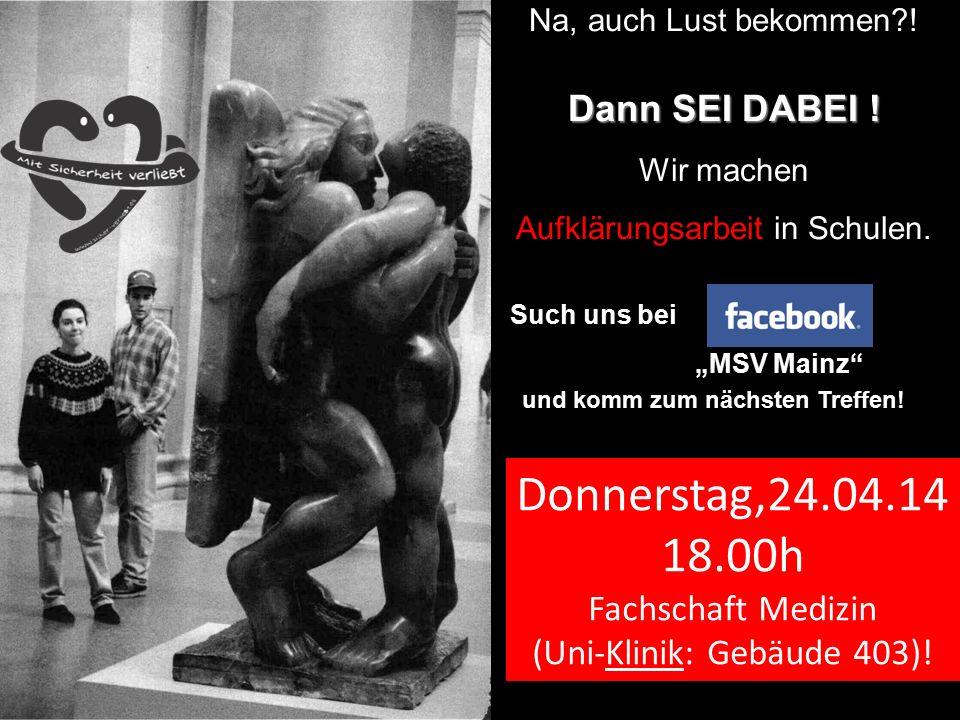 """13 Na, auch Lust bekommen?! Dann SEI DABEI ! Wir machen Aufklärungsarbeit in Schulen. Such uns bei """"MSV Mainz"""" und komm zum nächsten Treffen! Donnerst"""