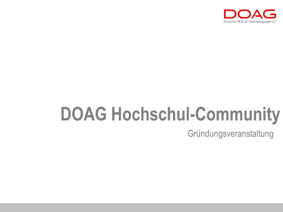 DOAG Hochschul-Community Gründungsveranstaltung