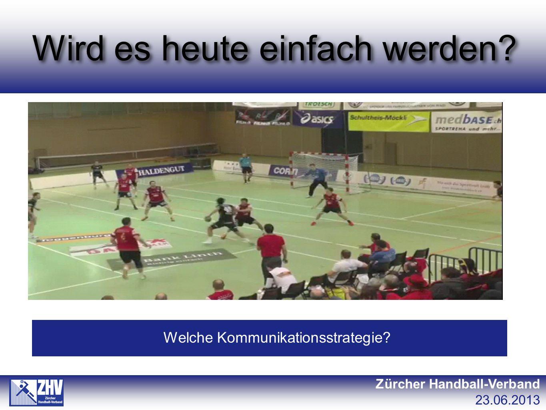 Wird es heute einfach werden Zürcher Handball-Verband 23.06.2013 Welche Kommunikationsstrategie