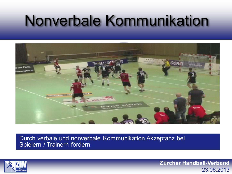 Gruppenarbeit Zürcher Handball-Verband 23.06.2013 A1SR entscheidet korrekt, Trainer ist unzufrieden, sucht Augenkontakt mit dem SR und schaut ihn fragend an.