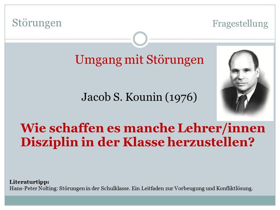 Störungen Fragestellung Jacob S.