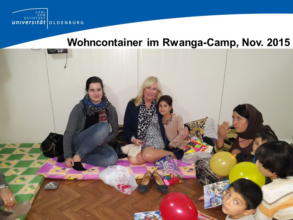 Wohncontainer im Rwanga-Camp, Nov. 2015