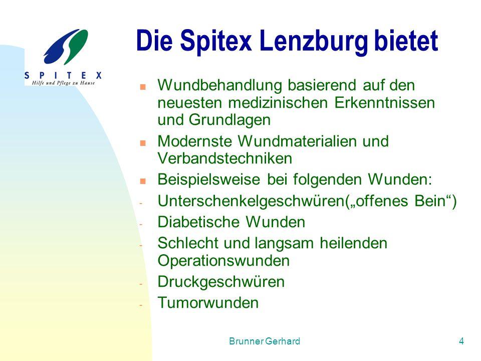 Brunner Gerhard4 Die Spitex Lenzburg bietet Wundbehandlung basierend auf den neuesten medizinischen Erkenntnissen und Grundlagen Modernste Wundmateria