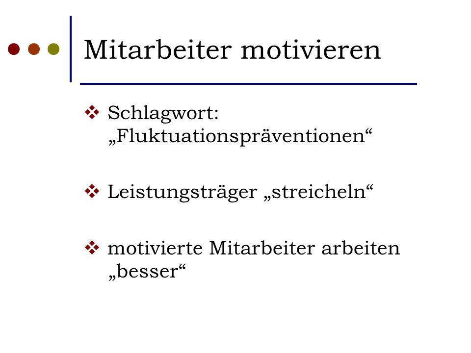 """Mitarbeiter motivieren  Schlagwort: """"Fluktuationspräventionen  Leistungsträger """"streicheln  motivierte Mitarbeiter arbeiten """"besser"""