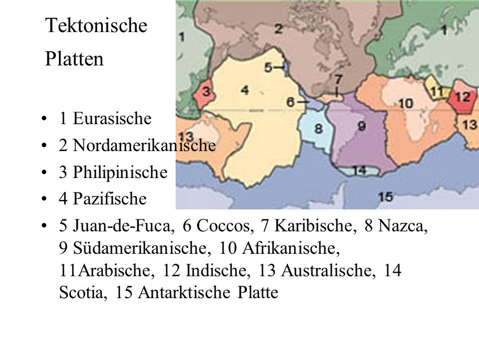 Ursachen Enthaken Kollision kontinentaler Platten