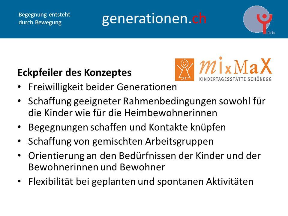 Begegnung entsteht durch Bewegung generationen.ch