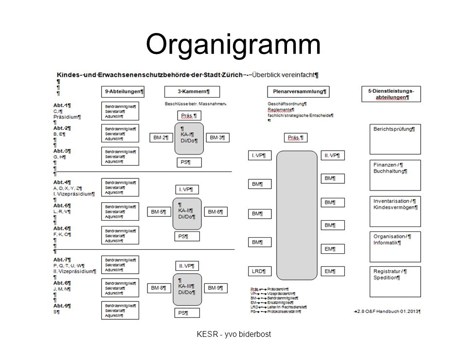 Organigramm KESR - yvo biderbost