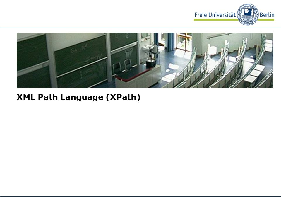 4 AG Netzbasierte Informationssysteme http://www.ag-nbi.de XPath Standard zum Zugreifen auf beliebige Teile eines XML-Dokuments keine XML-Anwendung wird von XSLT und XQuery benutzt Adressierungspfaden eines Dateisystems ähnlich aber wesentlich mächtiger: z.B.