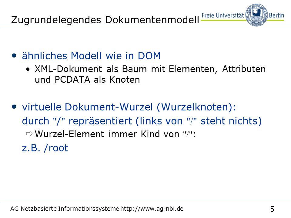 26 AG Netzbasierte Informationssysteme http://www.ag-nbi.de Beispiele //BBB //DDD/BBB