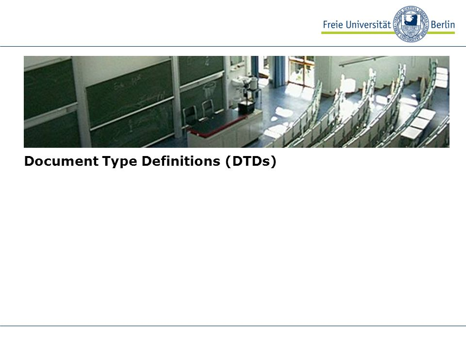 Document Type Definitions (DTDs)