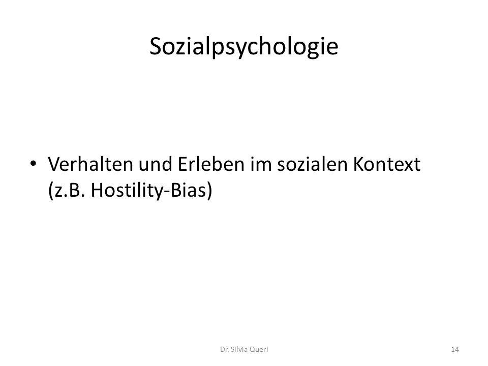 Sozialpsychologie Verhalten und Erleben im sozialen Kontext (z.B.