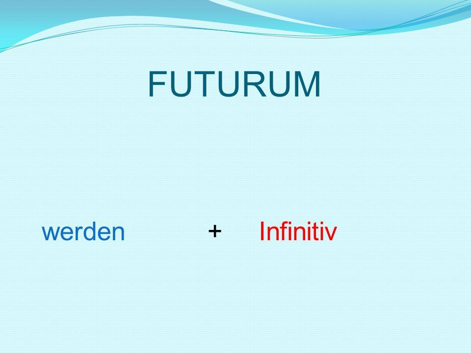 FUTURUM werden + Infinitiv