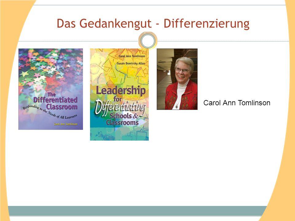 Das Gedankengut - Differenzierung Carol Ann Tomlinson