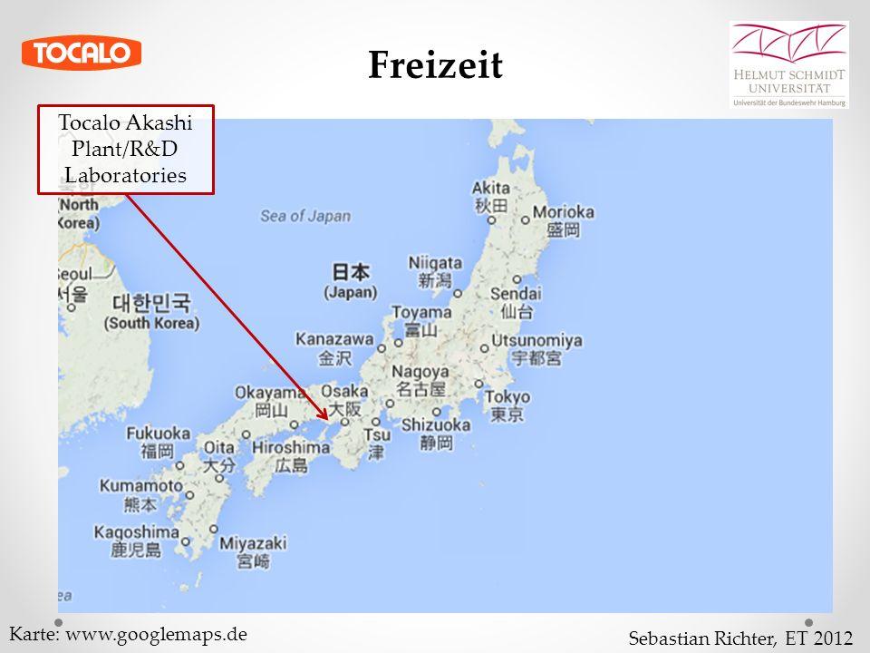 Sebastian Richter, ET 2012 Freizeit Tocalo Akashi Plant/R&D Laboratories Karte: www.googlemaps.de