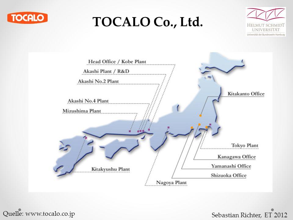 Sebastian Richter, ET 2012 Quelle: www.tocalo.co.jp TOCALO Co., Ltd.