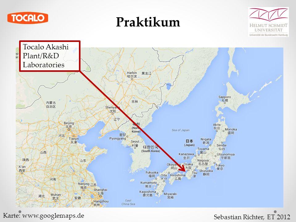 Sebastian Richter, ET 2012 Praktikum Tocalo Akashi Plant/R&D Laboratories Karte: www.googlemaps.de