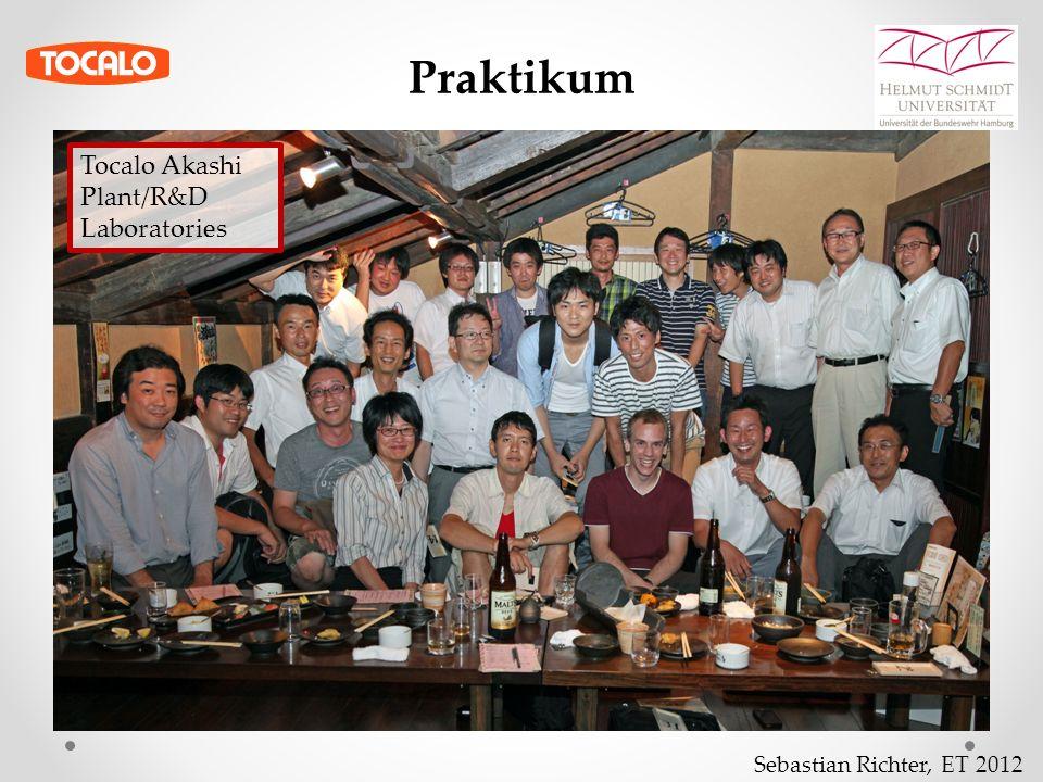 Sebastian Richter, ET 2012 Praktikum Tocalo Akashi Plant/R&D Laboratories