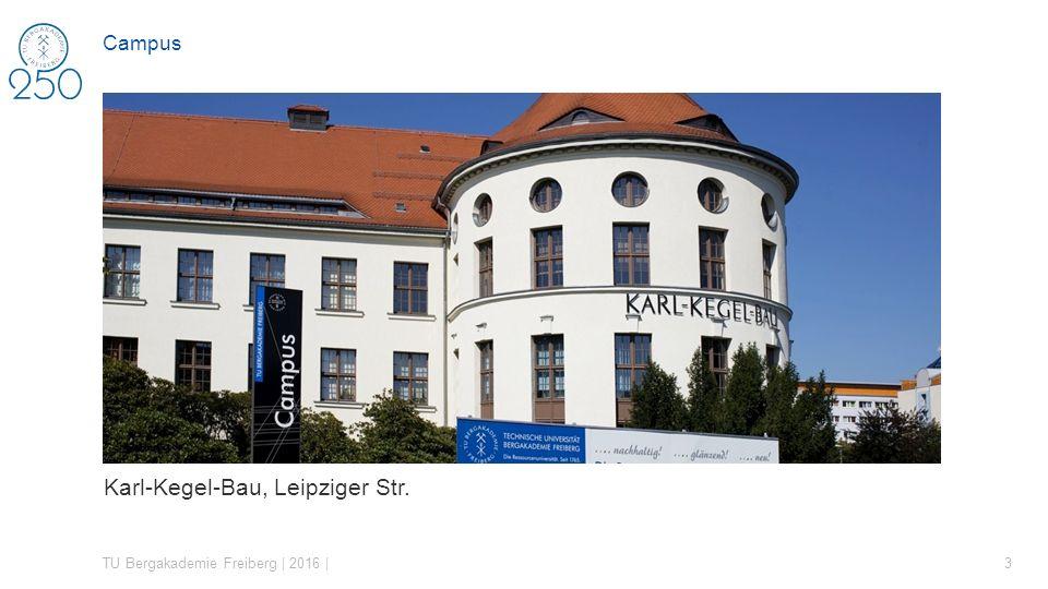 Karl-Kegel-Bau, Leipziger Str. TU Bergakademie Freiberg | 2016 | 3 Campus