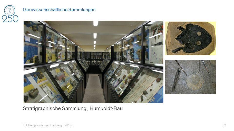 Stratigraphische Sammlung, Humboldt-Bau TU Bergakademie Freiberg | 2016 | 32 Geowissenschaftliche Sammlungen