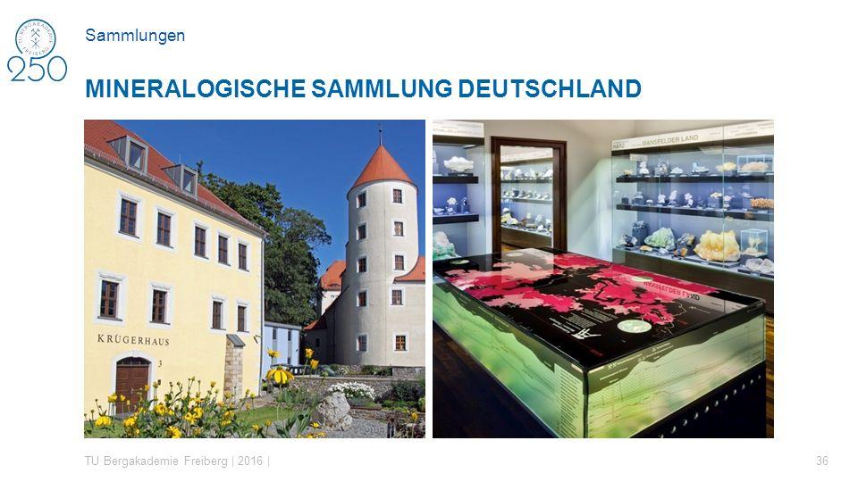 TU Bergakademie Freiberg | 2016 | 36 MINERALOGISCHE SAMMLUNG DEUTSCHLAND