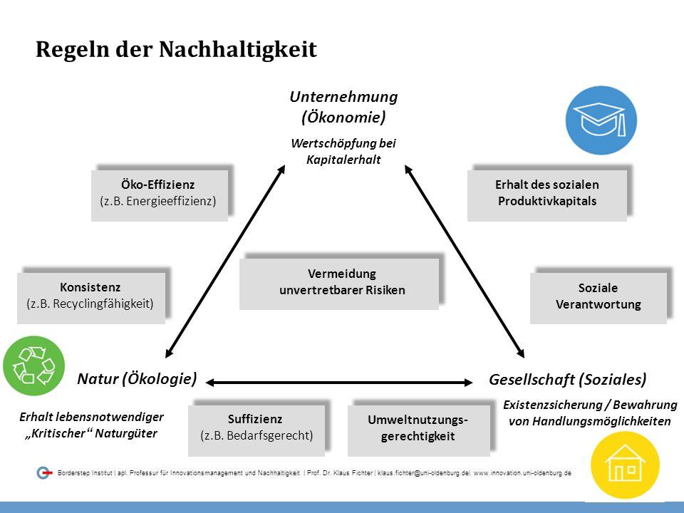 015 Borderstep Institut | apl. Professur für Innovationsmanagement und Nachhaltigkeit | Prof.