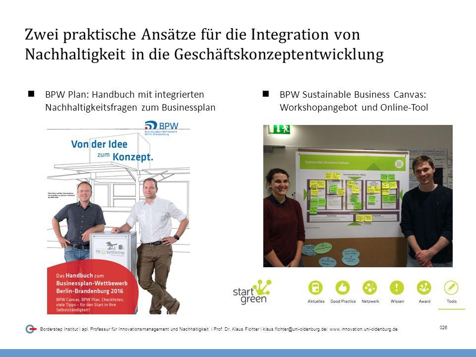 026 Borderstep Institut | apl.Professur für Innovationsmanagement und Nachhaltigkeit | Prof.