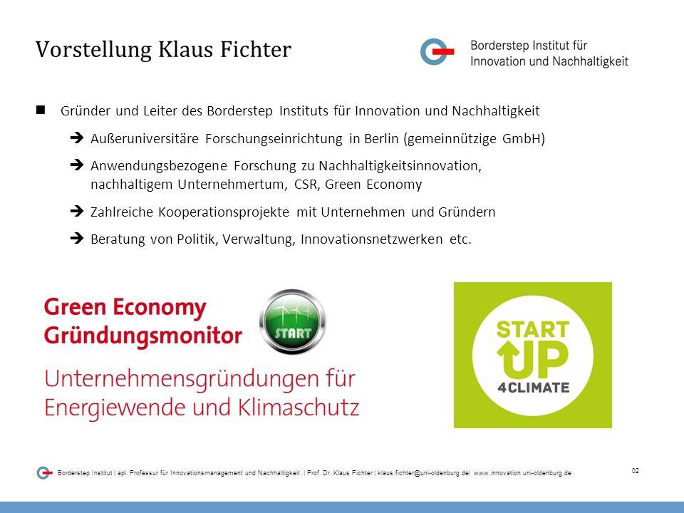 02 Borderstep Institut | apl.Professur für Innovationsmanagement und Nachhaltigkeit | Prof.