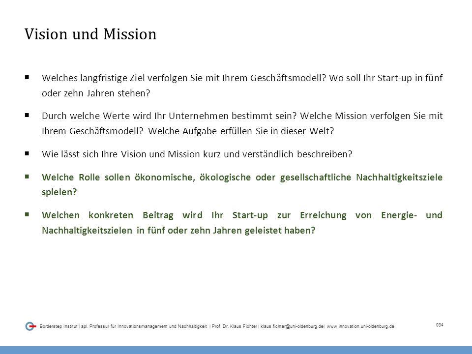 034 Borderstep Institut | apl. Professur für Innovationsmanagement und Nachhaltigkeit | Prof.