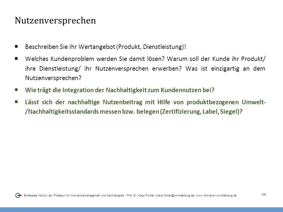 035 Borderstep Institut | apl. Professur für Innovationsmanagement und Nachhaltigkeit | Prof.