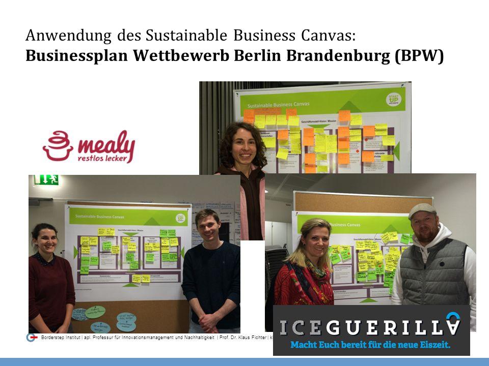 036 Borderstep Institut | apl.Professur für Innovationsmanagement und Nachhaltigkeit | Prof.