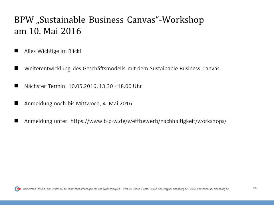 037 Borderstep Institut | apl.Professur für Innovationsmanagement und Nachhaltigkeit | Prof.