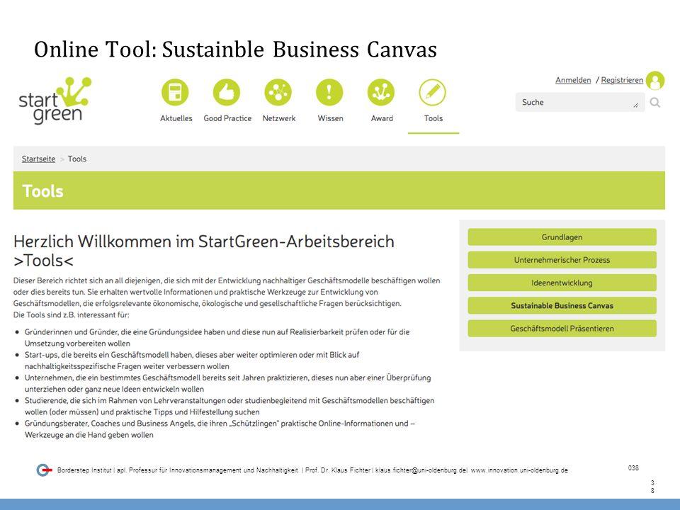 038 Borderstep Institut | apl. Professur für Innovationsmanagement und Nachhaltigkeit | Prof.