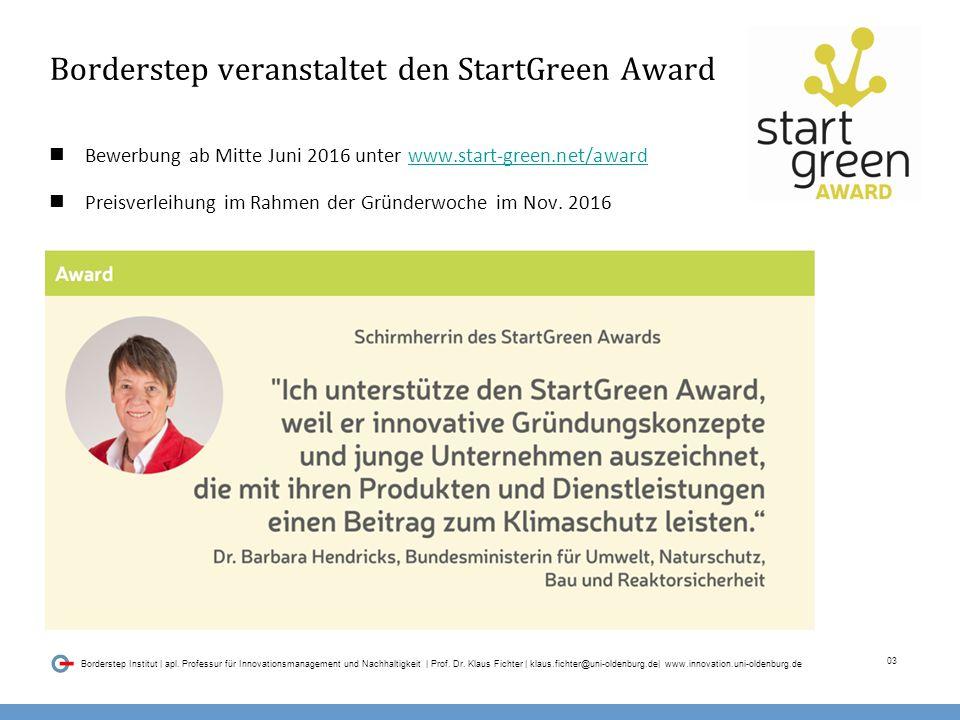 03 Borderstep Institut | apl.Professur für Innovationsmanagement und Nachhaltigkeit | Prof.