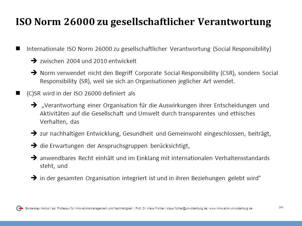 041 Borderstep Institut | apl.Professur für Innovationsmanagement und Nachhaltigkeit | Prof.