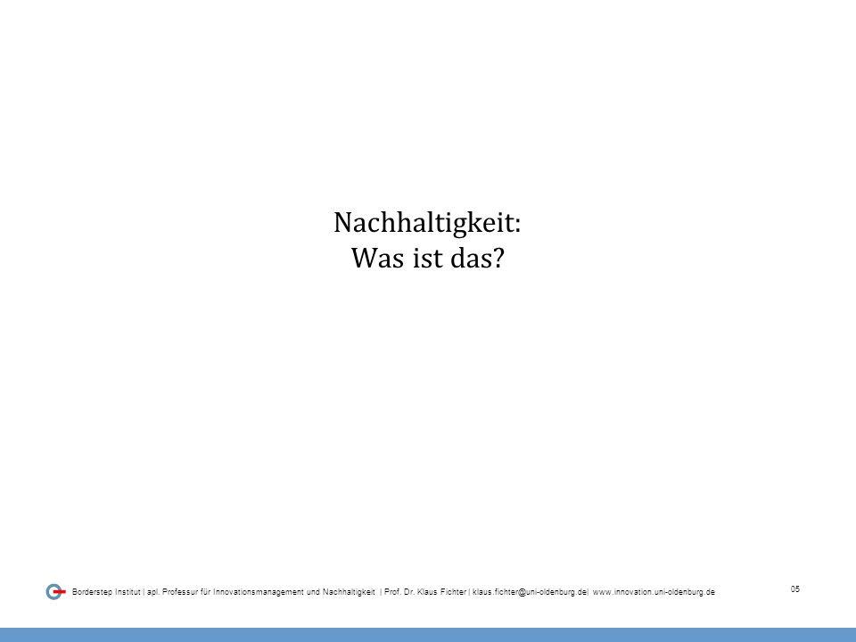 05 Borderstep Institut | apl. Professur für Innovationsmanagement und Nachhaltigkeit | Prof.