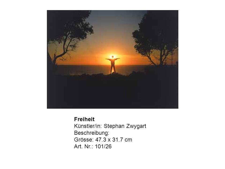 Freiheit Künstler/in: Stephan Zwygart Beschreibung: Grösse: 47.3 x 31.7 cm Art. Nr.: 101/26
