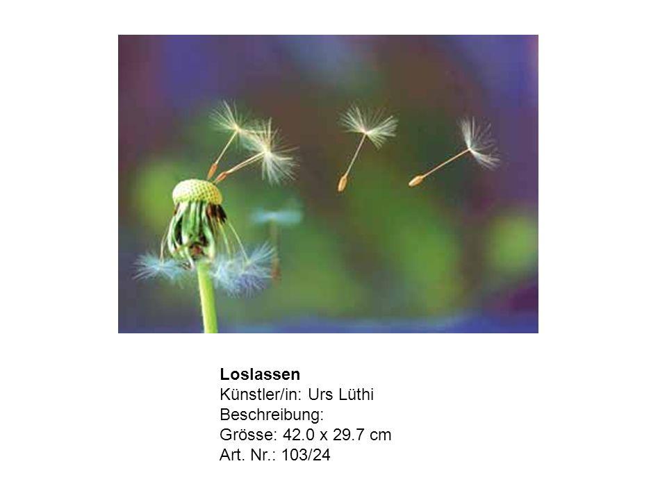 Loslassen Künstler/in: Urs Lüthi Beschreibung: Grösse: 42.0 x 29.7 cm Art. Nr.: 103/24