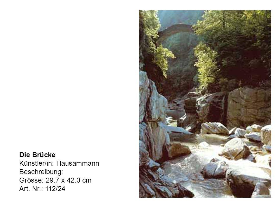 Die Brücke Künstler/in: Hausammann Beschreibung: Grösse: 29.7 x 42.0 cm Art. Nr.: 112/24