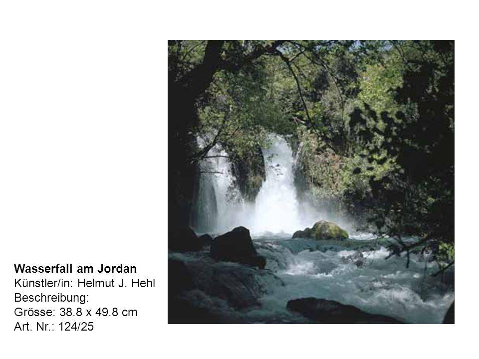 Wasserfall am Jordan Künstler/in: Helmut J. Hehl Beschreibung: Grösse: 38.8 x 49.8 cm Art.