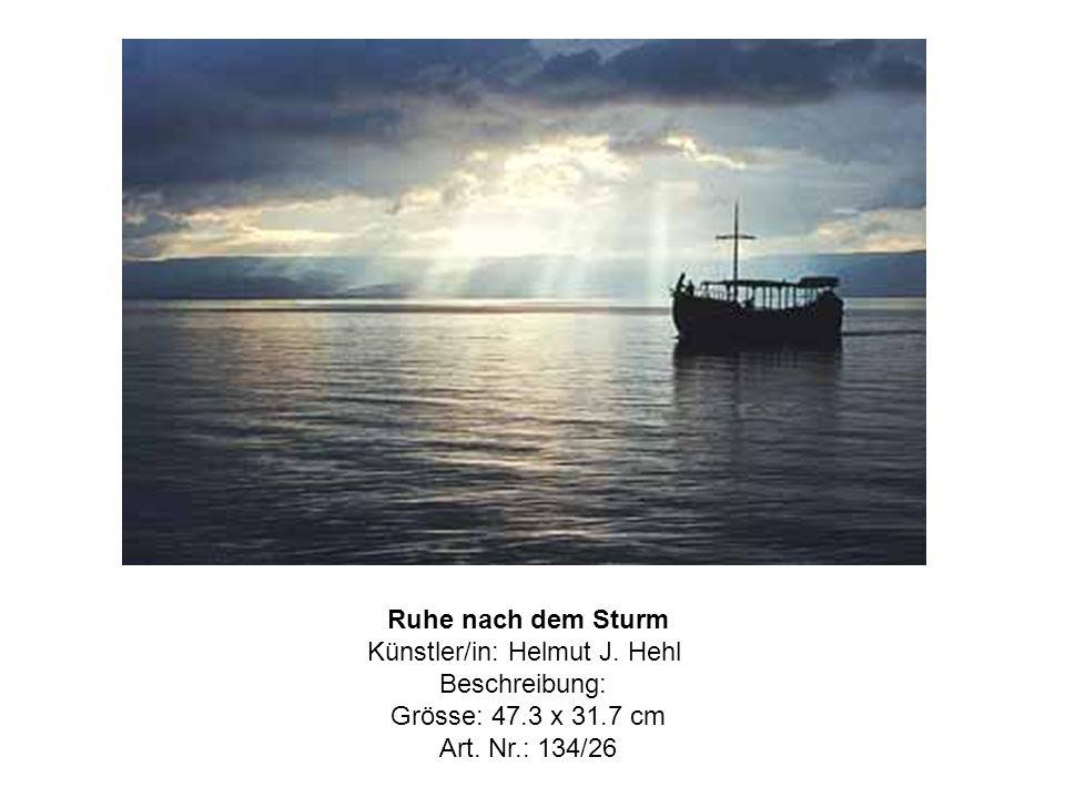 Ruhe nach dem Sturm Künstler/in: Helmut J. Hehl Beschreibung: Grösse: 47.3 x 31.7 cm Art.